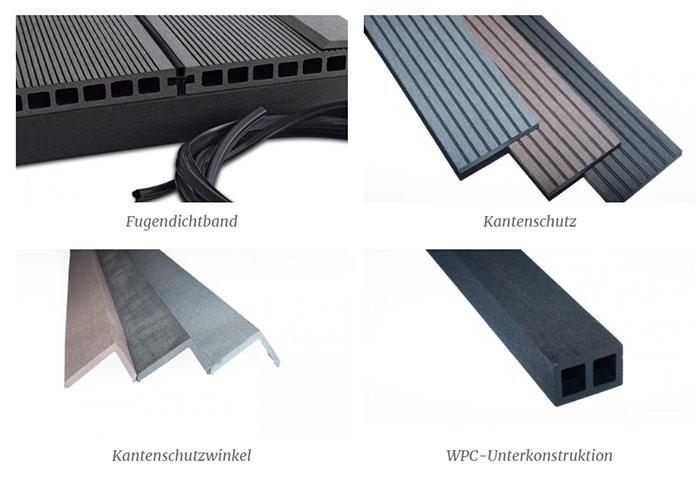 Fugendichtband - Kantenschutz - Kantenschutzwinkel - WPC-Unterkonstruktion