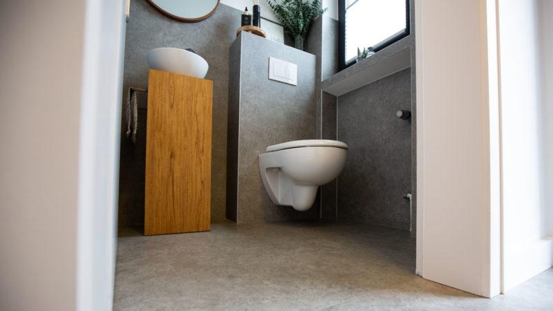 Fußboden Günstig Renovieren ~ Gäste wc renovieren u wc sanierung mit vinyl in schritten planeo