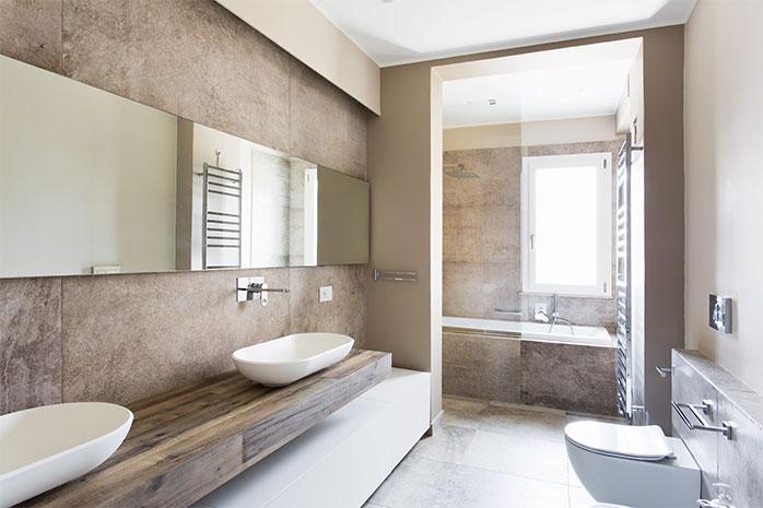 Badezimmer mit HPL