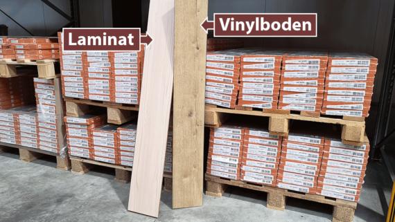 Vinylboden oder Laminat - Was ist besser?