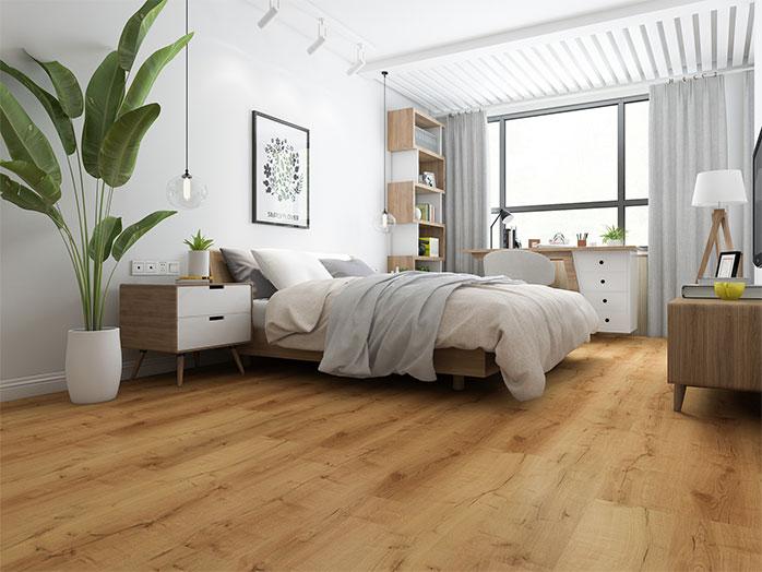 Vinylboden im Schlafzimmer